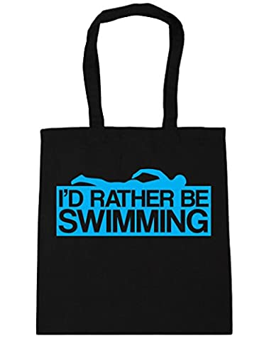 HippoWarehouse I'd Rather Be Swimming Tote Shopping Gym Beach Bag