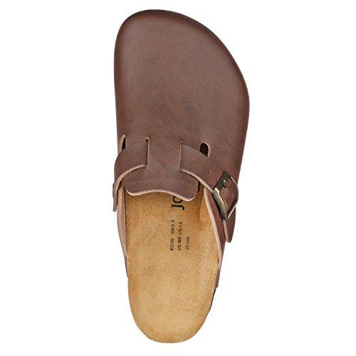JOE N JOYCE Amsterdam Synsoft pantofola stretto Brown