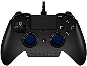 Razer Raiju Official Playstation 4 Gaming Controller (PS4 Controller with Four Programmable Buttons, Quick Control Panel and Ergonomics Optimized for Esports)