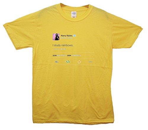 Harry Styles I Study Regenbogens. Tweet T-Shirt - Gelb - 3/4 Jahre