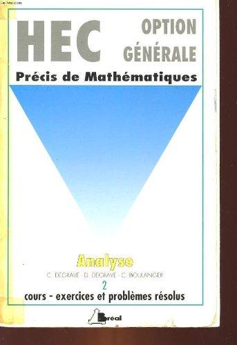 PRECIS DE MATHEMATIQUE TOME 2 ANALYSE