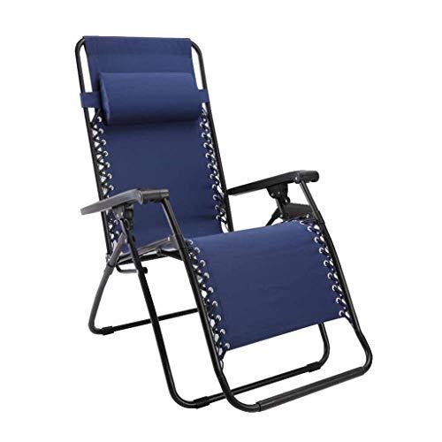 Myzdty-Pliante Textilene Chaise Fauteuil inclinable Pliant Fauteuils de Jardin Zero Gravity Relaxer avec Repose-tête avec Porte-gobelet Bleu