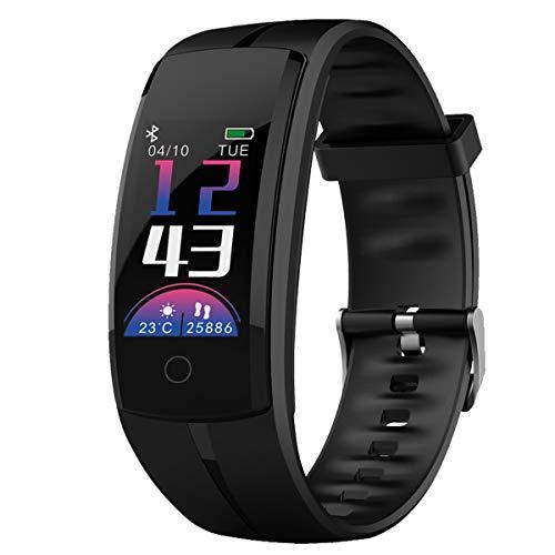 Zeerkeer Fitness Armband, Bluetooth Smartwatch Uhr mit Wasserdicht Fitness Uhr mit Touchscreen Pulsmesser für Damen Herren Kinder -
