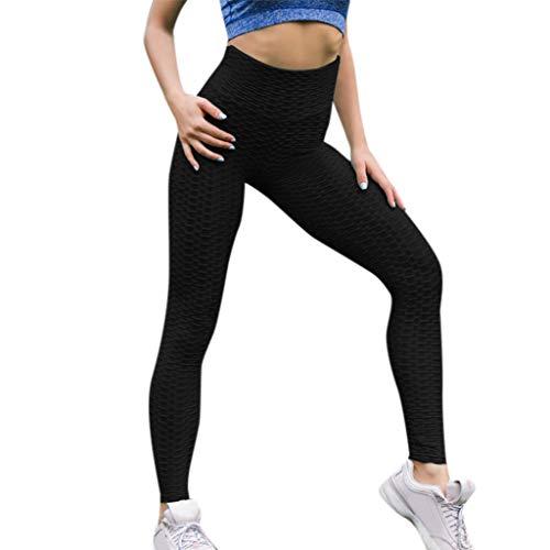 Sport Yogahose, Lange Stretch Traininghose Fitness Legging Athletische HosenFrauen einfarbig plissiert Kreuzgürtel Nähen Yogahosen Sport Fitness Hosen Hüften Hüfte Yogahosen ()