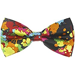 1 Pieza Moda Diseño Corbata De Lazo Ajustable De Poliéster Para Hombre Pajarita Con Patrón De música Ropa Accesorio (1)