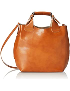 CTM Bag Woman Hand und Schulter, 44x30x13cm, 100% echtes Leder Made in Italy