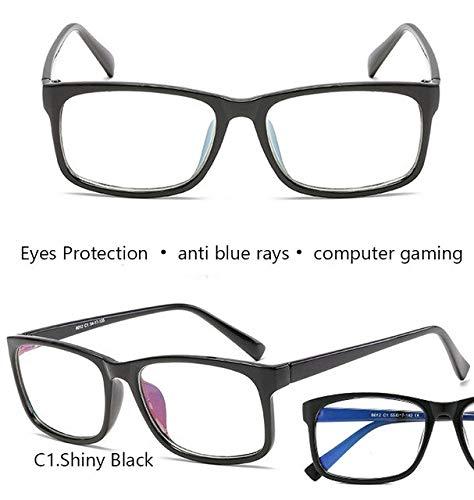 GPZFLGYN Anti-Blau Computer Gläser Anti-Fatigue Anti-Blue Light Brille Defense-Radiation Computer Brille Männer Und Frauen Nachtfahrten Gelbe Linsen Gaming-Brille