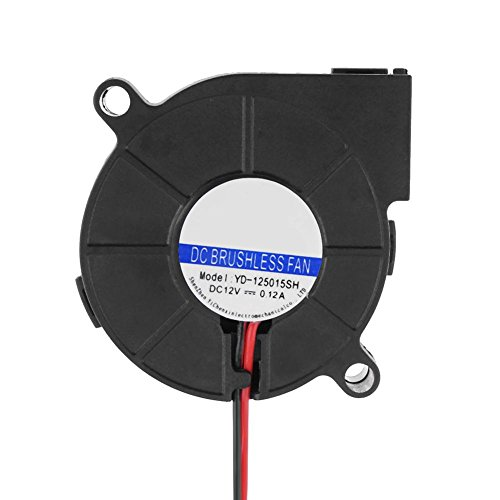 Broadroot 1pcs turbo ventola dc 12v 0.12a per stampante 3d estrusore 50x 50x 15mm