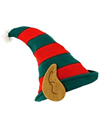 New Mens & Ladies Green And Red Jester Elf Boots Shoes Bells Pixie Xmas Fancy Elf Hat Ears Dress Christmas