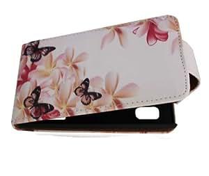 Handy Tasche Case Flip für LG E610 Optimus L5 / Handytasche Hülle Etui Schutzhülle JS M12