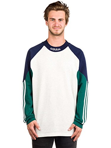 Herren Sweater adidas Skateboarding Piti Goalie Jersey Sweater pale melange/night indigo