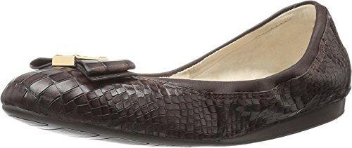 Cole Haan Tali Bow Ballet Flat Chestnut Croc Print