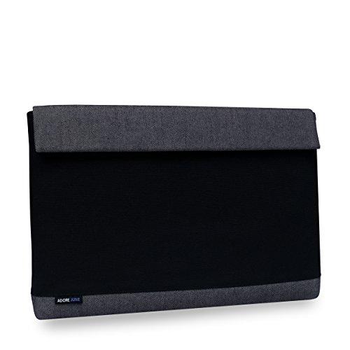 Adore June 14 Zoll Bold Hülle kompatibel mit Lenovo ThinkPad X1 Carbon 2016/2015 und Lenovo Thinkpad X1 Yoga 2017/2016, Laptop Tasche aus robustem Canvas Stoff - Grau/Schwarz