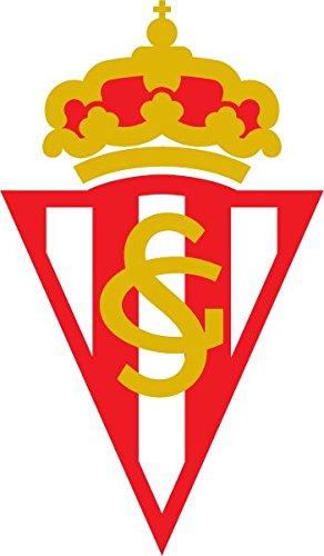 Sporting de Gijon FC Spain Soccer Football Alta Calidad De Coche De Parachoques Etiqueta Engomada 8 x 12 cm