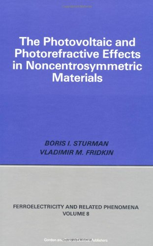 Photovoltaic and Photo-refractive Effects in Noncentrosymmetric Materials