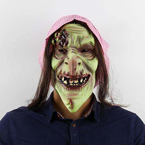Circlefly Masquerade alte Hexe Maske Halloween Bar Kammer des Schreckens entkommen vollen Kopf Horror Latex Maske (Alte Scary Halloween-masken)