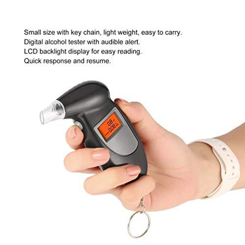 Alkoholtester, Atmungsaktiv, Tragbar und Hochpräzis Atmen 5 Mundstücke Schlüsselanhänger für Trunkenheit Am Steuer