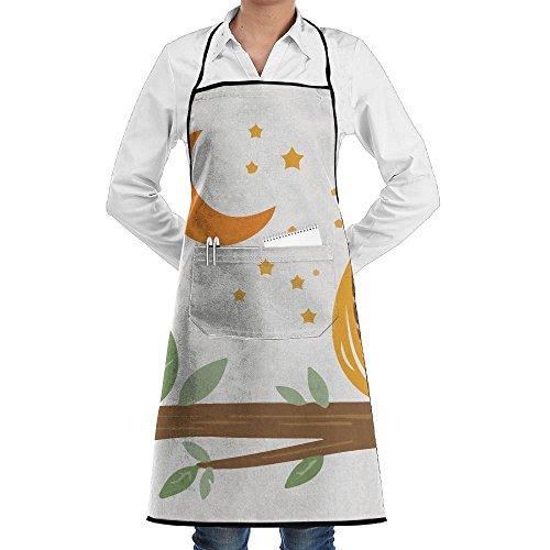 Drempad Premium Unisex Schürzen, Cartoon Night Owl Faction Unisex Kitchen Cooking Garden Apron,Convenient Adjustable Sewing Pocket Waterproof Chef Aprons