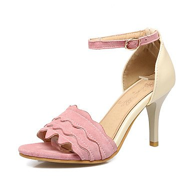 Sandali Primavera Estate Autunno Club scarpe Ufficio vello & carriera parte & abito da sera Stiletto Heel fibbia nera Beige rosa Blushing Pink