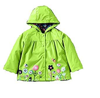 e038cf7b3164 Koo-T Girls Rain Coat Jacket Summer Hood Windbreaker Spring Mac ...