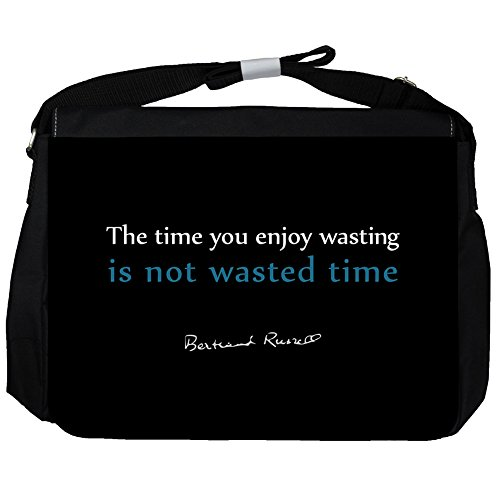 The time you - Bertrand Russell Unisexe Sac Messenger