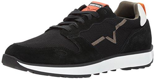 Diesel Herren Cortt Rv Sneaker, Mehrfarbig (Black/Sun Orange), 44 EU