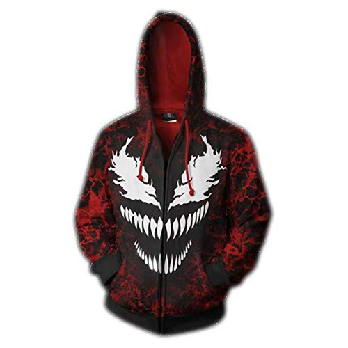 Zhangjianwangluokeji Cosdaddy Herren Hoodie Kapuzenjacke Cosplay Kostüm (Rot, L)