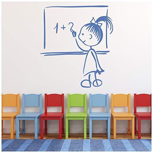 r Wandtattoo Mathematik Wand Sticker Kindergarten Wohnkultur verfügbar in 5 Größen und 25 Farben Mittel Blatt Grün ()