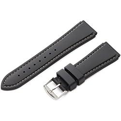 Hadley-Roma Men's MS3445RT 220 22-mm Genuine Rubber Diver Sport Watch Strap