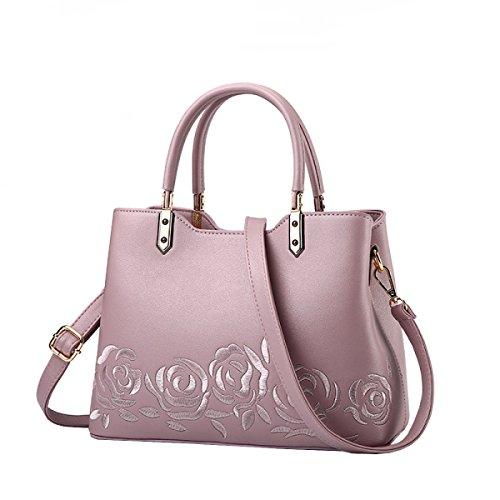 LAIDAYE Frauen-Handtaschen-Frauen-Beutel-Schulter-Beutel-Reißverschluss-Verschluss-Tote-Weinlese-Beutel PU-Leder 5