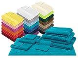 npluseins Packs zum Sparpreis - solide Frottiertücher - erhältlich in 20 modernen Farben und 8 verschiedenen Größen, 2er Pack Duschtücher (70 x 140 cm), türkis