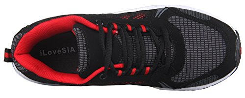 iLoveSIA, Delocrd, scarpe sportive, da uomo Black+Red New Design