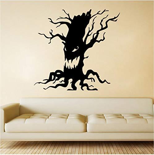 Abnehmbare wasserdichte schnitzen schwarz muster halloween wandaufkleber schlafzimmer dekoration wohnzimmer ornament 57x60 cm