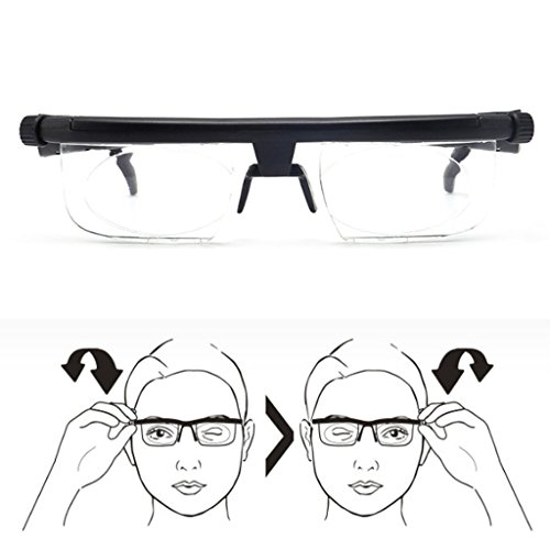 Einstellbare Stärke Objektiv Lesebrille Brillen Brillen, variabler Fokus Zoom Variable Myopie.