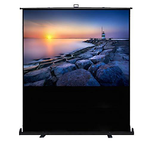 HENGMEI Beamer Leinwand Rolloleinwand 84 Zoll - Projektion Leinwand Nutzfläche Format 4:3 - für Heimkino und Business 170x128 cm (84 Zoll, Mobile Kofferleinwand)