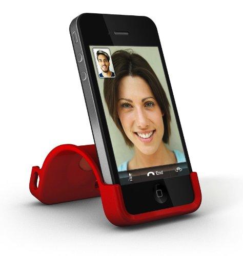 XtremeMac IPP-SS5-13 SnapStand Licorice Schutzhülle für Apple iPhone 4/4S mit Stand-Funktion schwarz rot