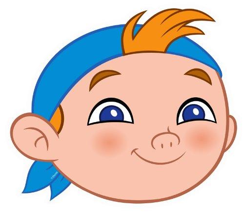 Bedruckte Gesichtsmaske von Kleine Jake und die Nimmerland Piraten ()