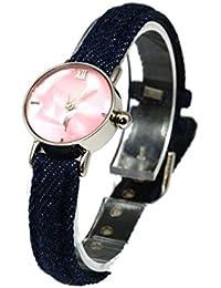 Carvel A390.16AV - Reloj para mujeres, correa de tela color azul