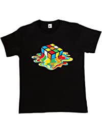 Fancy A Snuggle Melting Rubix Cube Mens T-Shirt