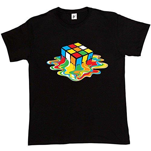 Fancy A Snuggle Melting Rubix Cube Mens T-Shirt