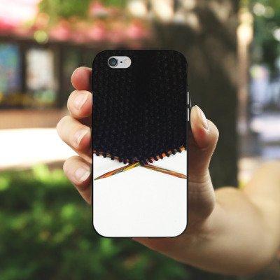 Apple iPhone 5s Housse Outdoor Étui militaire Coque Laine Noir Motif Housse en silicone noir / blanc
