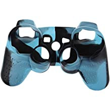 SODIAL(R) Funda Cubierta de Silicona Camuflaje para PS3/PS2 Play Station Controlador