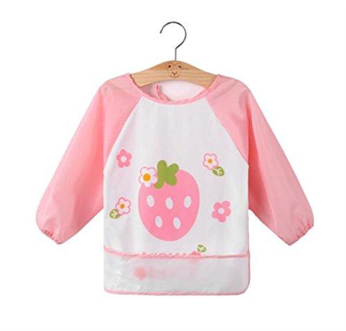 Warmman moda semplice unico grembiule regalo grembiule asilo nido per bambini (rosa)
