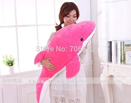 MRWJ 47 Zoll PuppePink DolphinPlüschtier umarmt KissenSpielzeug Geschenk Pink Dolphin-fall