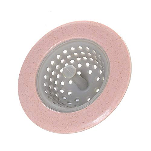 FIOLTY Art und Weise neu TPR Küche Badezimmer Haus- Wasch- oder Spülbecken Sieb Spüle Seiher Haar Drains Cover: Rosa (Drain Cover Spüle)