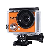 TOPmountain Action Camera 5.0Mp WiFi Wasserdichte Sportkamera, 2,0 '' Inch140-Grad-Action-Kamera-Camcorder - Orange