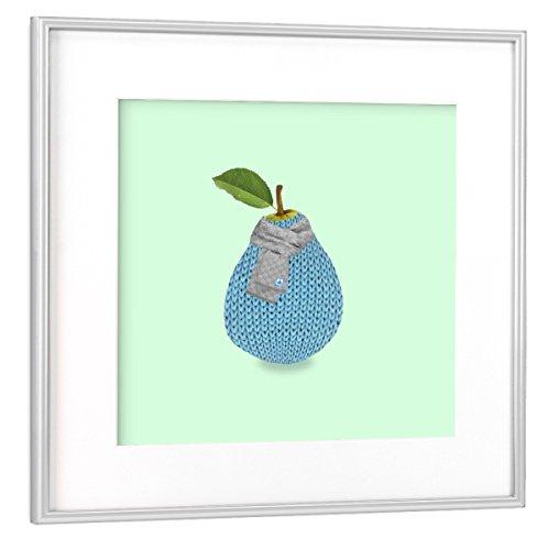 artboxONE Poster mit Rahmen Silber 20x20 cm Pear Winter von igorkalatay - gerahmtes Poster