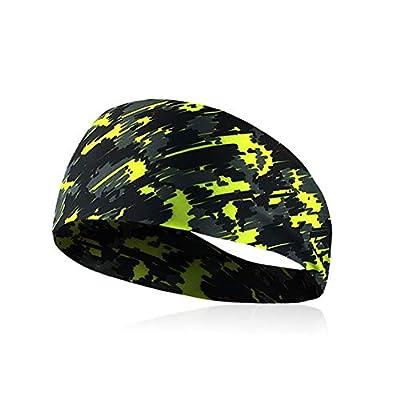Hosaire 1x Sport Antitranspirant Stirnband Haarband breitkrempigen Haarband Mode Damen Stretch Kopfbänder Haarschmuck 25 * 8cm von Hosaire - Outdoor Shop