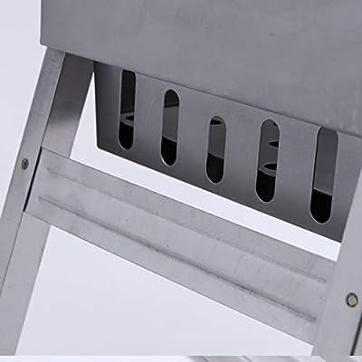 CBWZDJZDS BBQ Outdoor Carbon Einweggrill Klappgrill Regal Tragbarer Grill Picknickkocher 44X20X35Cm