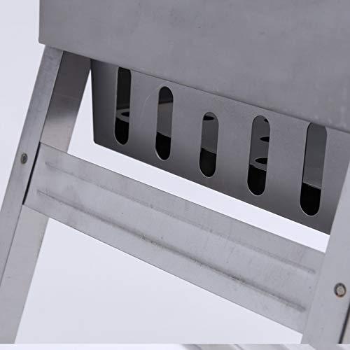 41zJbGTGiCL - CBWZDJZDS BBQ Outdoor Carbon Einweggrill Klappgrill Regal Tragbarer Grill Picknickkocher 44X20X35Cm